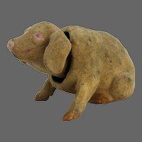 Antique German Paper Mache Pig Nodder ca1900