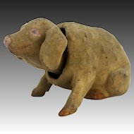 Antique German Paper Mache Pig Nodder ca1900