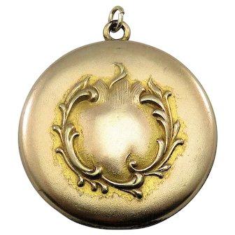 Ornate Gold Fill Art Nouveau Antique Victorian Locket Pendant