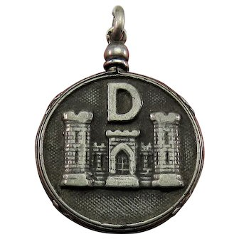 1917 World War 1 France Trench Art Medals Silver Antique Locket Pendant Fob