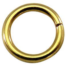 9k Gold SPLIT RING Antique Victorian for Lockets Pendants Charms & Fobs 3