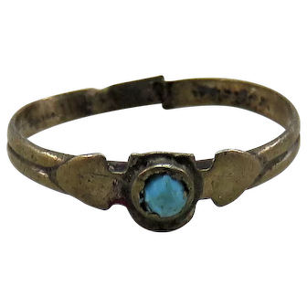 Turquoise Antique Victorian Baby Ring Band