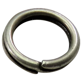 Silver SPLIT RING Antique Victorian for Lockets Pendants Charms & Fobs B