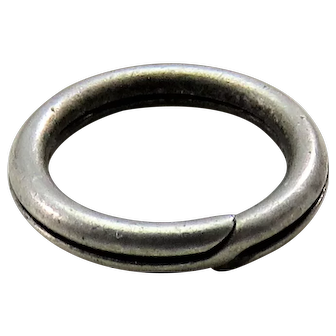 Silver SPLIT RING Antique Victorian for Lockets Pendants Charms & Fobs C