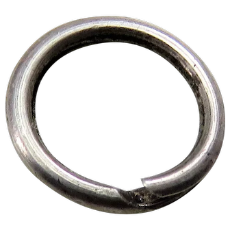 Silver SPLIT RING Antique Victorian for Lockets Pendants Charms & Fobs D