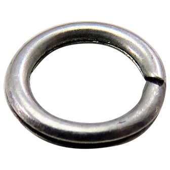 Silver SPLIT RING Antique Victorian for Lockets Pendants Charms & Fobs H