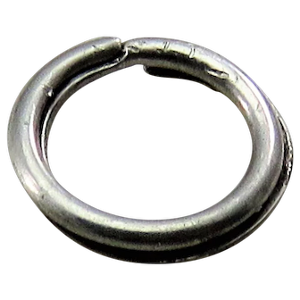 Silver SPLIT RING Antique Victorian for Lockets Pendants Charms & Fobs J