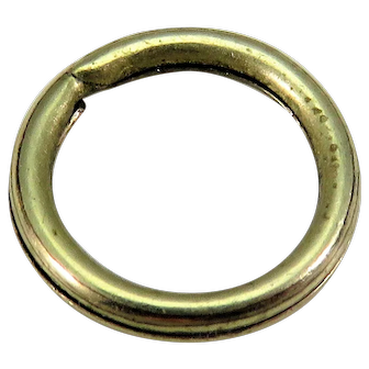 9k Gold Cased SPLIT RING Antique Victorian for Lockets Pendants Charms & Fobs 7