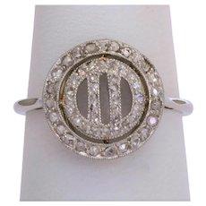 Art Deco diamond ring 18 k white gold platinum circa 1920 s