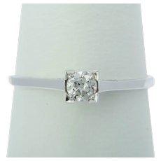 Engagement diamond ring 0.20 ct circa 1930
