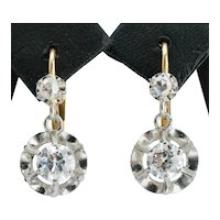 Antique 0.60 cwt diamond drop earrings circa 1910