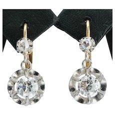 Antique 0.60 cwt diamond drop earrings circa 1910