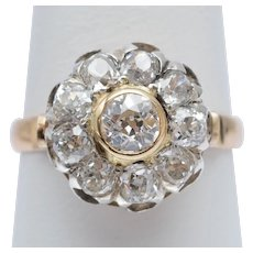 Antique 2.12 cwt diamonds ring