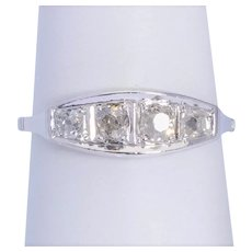 0.60 cwt Old Cut Diamond engagement ring / anniversary  ring circa 1918