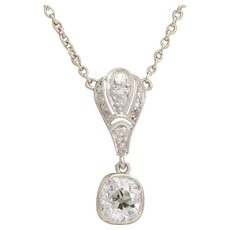 Diamond Platinum Antique pendant circa 1910