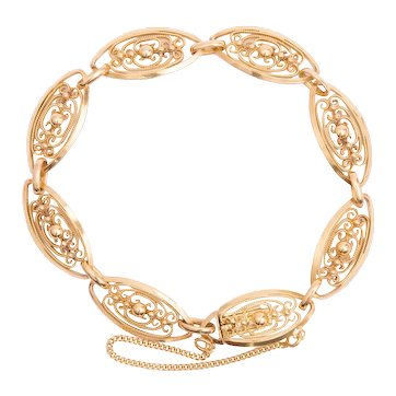 Antique French Art Nouveau bracelet 18 k yellow gold circa 1900