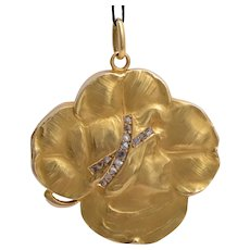 Art Nouveau locket/pendant diamonds gold 18 karat circa 1895