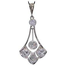 Belle  Époque 1.00 cwt diamonds Pendant Platinum circa 1910