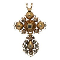 Georgian Diamond Cross pendant gold 18 karat circa 1780