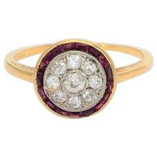 Sweet target antique ring diamonds calibrated rubies