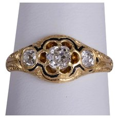 Antique 0.90 cwt diamond ring circa 1870