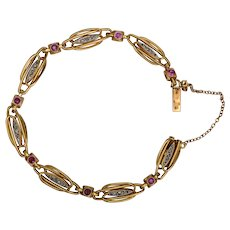 Art Nouveau French  bracelet 18 k yellow gold   circa 1900