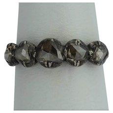 Antique Georgian ring rose cut diamonds gold silver circa 1800