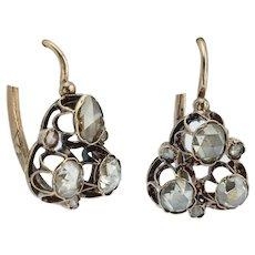 Early Victorian rose cut drop earrings circa 1840