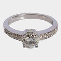 1.10 cwt Modern Brilliant cut Diamond engagement ring circa 1995