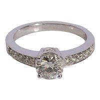 1.10 cwt Modern Brilliant cut Diamond engagement ring circa 1995