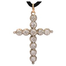 Antique Victorian 4 cwt diamonds Cross circa 1850