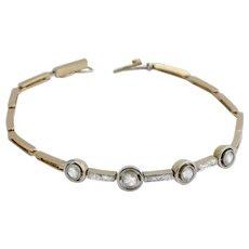Rose cut diamonds Belle Epoque  bracelet 18k yellow gold