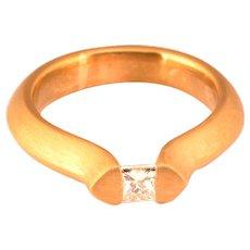 F/VVS 0.37 ct princess-cut diamond engagement ring / anniversary ring circa 1980