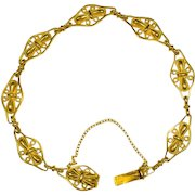 Antique Art Nouveau 18 karat yellow gold bracelet circa 1900