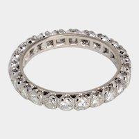 Bridal elegant 1.20 cwt diamond wedding band 18 karat white gold US Size 7