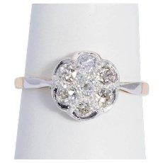 Antique 0.84 cwt diamond engagement ring Victorian circa 1890-1900