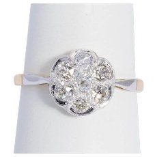 Sparkling white 0.84 cwt diamond ring Victorian circa 1890-1900