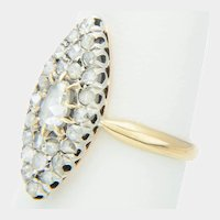 Antique rose-cut diamond ring Victorian circa 1860