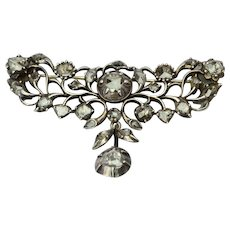 Antique rose-cut diamond brooch Georgian circa 1780 s