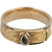 Antique mourning belt ring Victorian circa 1850 s