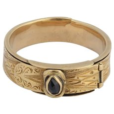 Antique mourning belt ring Victorian circa 1850 s