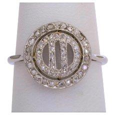 Art Deco diamond ring 18 karat white gold platinum circa 1920 s
