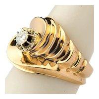 Vintage Retro diamond ring / right hand ring 18 k gold circa 1940