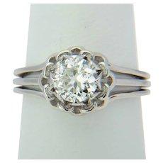1 carat diamond F / VVS French platinum ring
