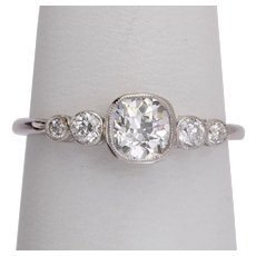 Super elegant 0.75 cwt diamonds engagement ring platinum 900 circa 1910