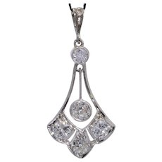 Antique Belle Epoque 1.03 cwt diamond platinum 900 circa 1910 s