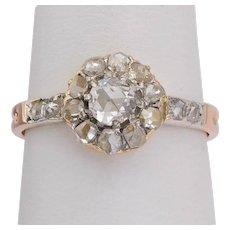 Antique Victorian diamond ring circa 1890 14 karat gold