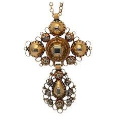 Antique Georgian cross diamond pendant circa 1780