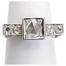 Art Deco diamond ring platinum 900 circa 1930-35