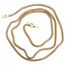 Vintage 18 karat yellow gold snake chain/necklace circa 1940